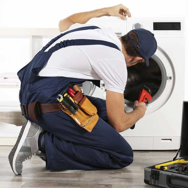 sandri plumber fixing a washing wash machine